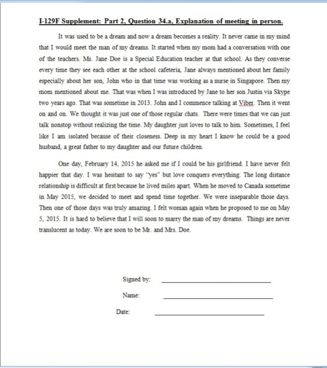 Letter Certifying Intent To Marry